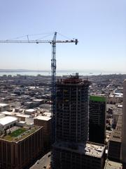 The views from 100 Van Ness are astounding. This is looking south to Cresecent Heights NeMa at 1401 Market.