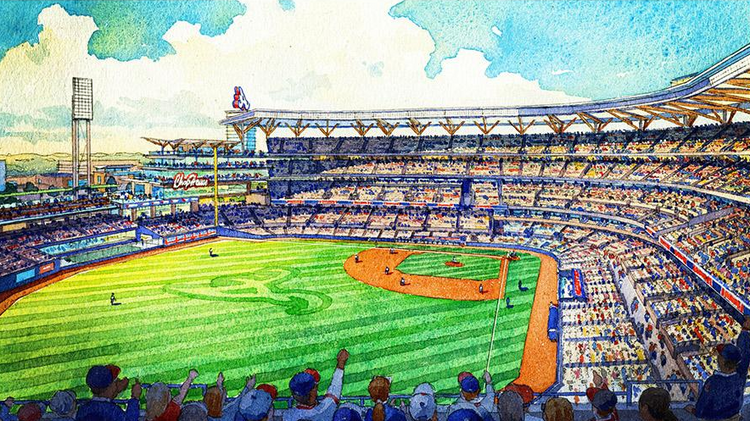 The new Atlanta Braves ballpark will hold 41,500 people when it opens in 2017.