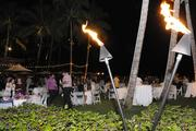 Tiki torches were lit after dark at The Royal Hawaiian hotel in Waikiki for PBN's 2013 Women Who Mean Business event.