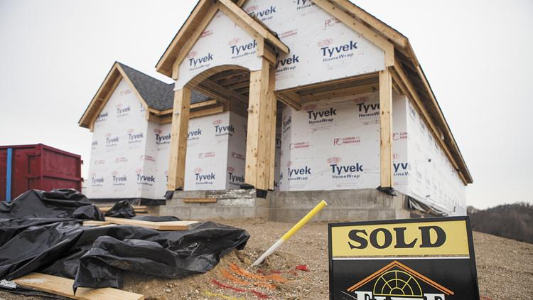 An index gauging home builders' confidence in the market for new single-family homes jumped four points in July.
