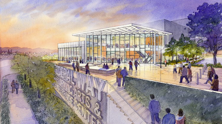 The Federal Way City Council voted Tuesday to proceed with development of a $32 million downtown performing arts and conference center.