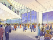 The performing arts center in downtown Federal Way will have views of Mount Rainier.
