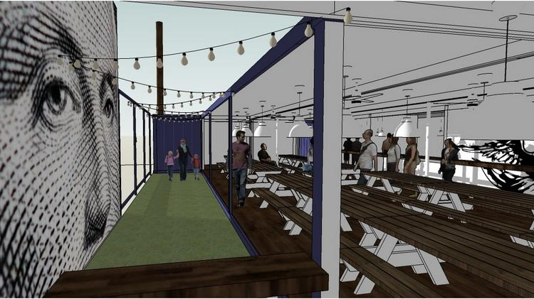 The Federalist Public House will be built using shipping containers that will be welded together to create indoor space where diners won't be exposed to the elements.