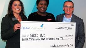 Girls, Inc. received a $3,500 grant from Delta Community Credit Union.