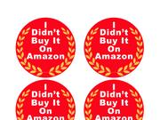 """Stephen Colbert's Comedy Central site offers viewers a chance to download """"I Didn't Buy It On Amazon"""" stickers."""