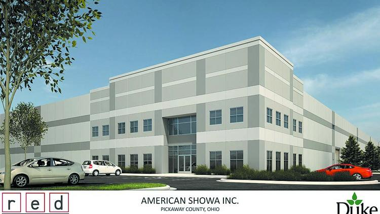 American Showa's planned distribution center in the Rickenbacker area.