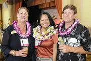 Lisa Truong Kracher, center, of Staffing Solutions of Hawaii, No. 10 on the list of women-owned businesses, with Gabriele, left, and David Barthlen of the Sleep Center Hawaii, No. 25 on the list.
