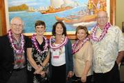 From left, Clive and Carol Davies, Women Who Mean Business finalist Debbie Goodwin, Suzanne Hill and Mike Luce.