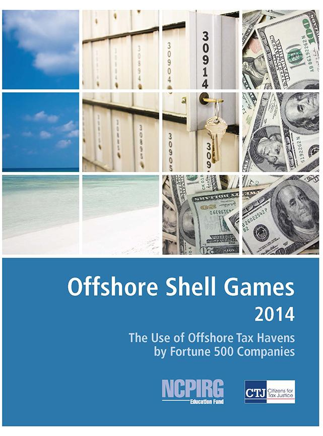 Report says big corporations use tax shelters to avoid paying U.S. taxes.