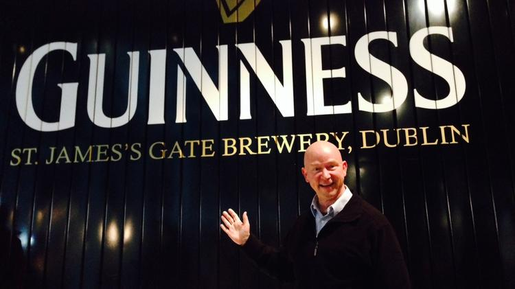 Terry Brock at Guinness in Dublin, Ireland.