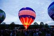 Light and colors of the hot-air balloons intensified as the sky got dark during Friday night's Balloon Glow.