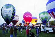 Hot-air balloons were inflated to start the U.S. Bank Kentucky Derby Festival 2013 Balloon Glow at the Kentucky Exposition Center on Friday, April 26.