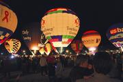 Hot-air balloons lit up the sky at the 2013 Balloon Glow at the Kentucky Exposition Center on April 26.