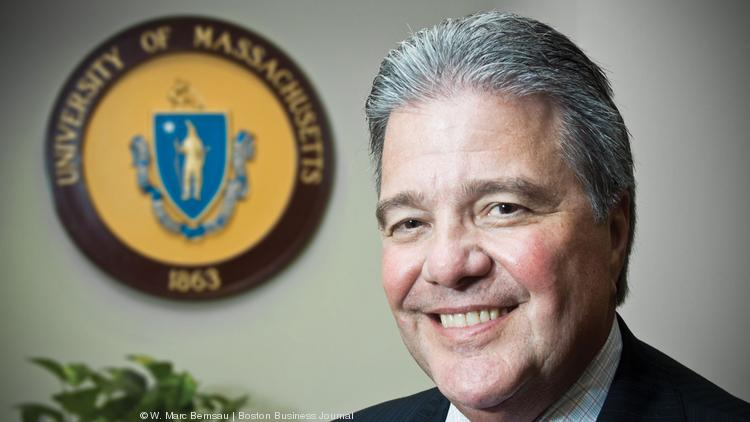 UMass CEO Bob Caret touts four-year degree for $30K as attainable.