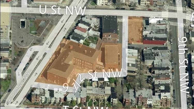 The lots now on the table for redevelopment include the Grimke School building and a parking lot that fronts U Street.