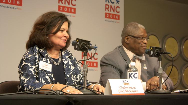 RNC site-selection committee chairwoman Enid Mickelsen thanks Kansas City for its hospitality in hosting the GOP representatives.
