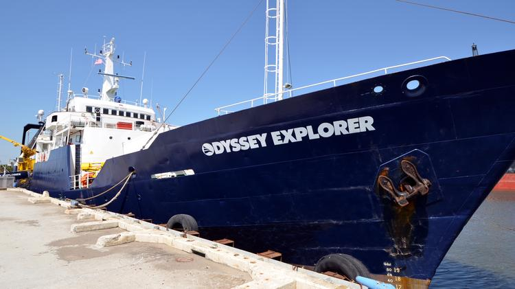 The 251-foot Odyssey Explorer serves as Odyssey's principal state-of-the-art deep-ocean archaeological platform.
