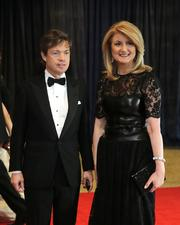 Arianna Huffington, co-founder of The Huffington Post, right, and Nicholas Berggruen, founder and president of Berggruen Holdings, arrive for the White House Correspondents' Association dinner in D.C.