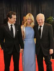 From left, actors Hugh Dancy and Claire Danes, with television journalist Bob Schieffer.