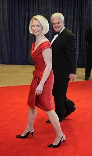 Newt Gingrich, former speaker of theHouse of Representatives, and wife Calista Gingrich.
