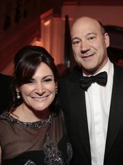 Gary D. Cohn, president and chief operating officer of Goldman Sachs Group Inc. with a guest.