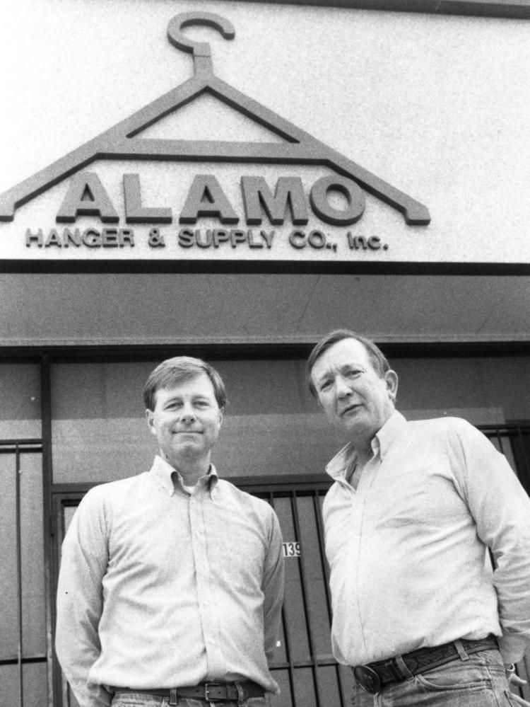 File photo of Alamo Hanger & Supply Co. Inc. in 1989. Jerry Mowry and David Bradshaw teamed up to open the company,