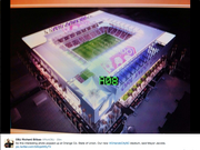 This rendering was included in the 2014 State of the County address, but is also not the final design of the stadium.