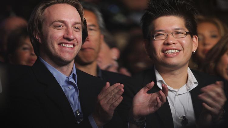 YouTube co-founders Chad Hurley, left, and Steve Chen are parting ways after 15 years fo working together. Hurley is concentrating on a video collaboration company spun out of an incubator the pair ran and Chen is going to work at Google Ventures.