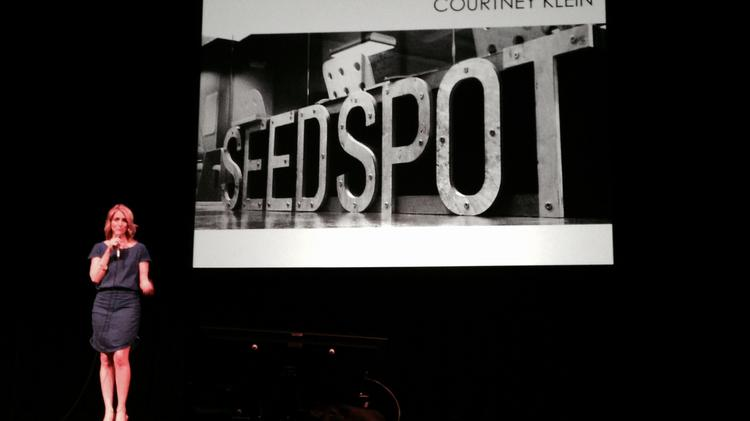 Seed Spot co-founder and CEO Courtney Klein kicks off the Demo Day event June 5 at the Orpheum Theater in downtown Phoenix.