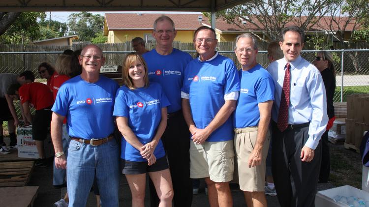 BMO Financial Group held its annual Volunteer Day last month, with approximately 6,000 BMO volunteers spread out across the U.S and Canada, volunteering in nearly 400 projects that supported hundreds of organizations. In Palm Beach County, BMO Private Bank employees donated their time at the Palm Beach County Food Bank, located in Lantana