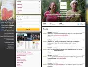 Humana also has a presence on Twitter.