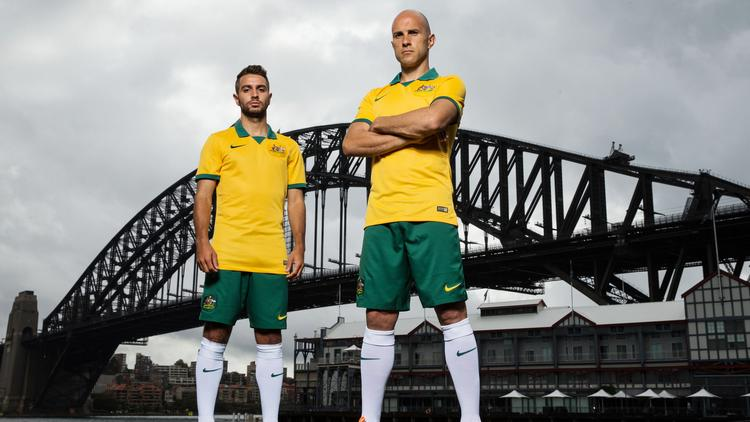 Remember, you might THINK you can play like these guys — Australia's Michael Zullo and Mark Bresciano — but you aren't. Weekend warriors probably shouldn't try to replicate their moves.
