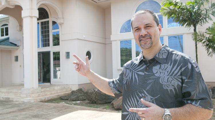Lance Parker, senior vice president acquisitions and investments for A&B Properties, says the 4834 Kahala Ave. property has been lightly refurbished and the pool has been replaced. Parker says the property is now on the market for $4.8 million.