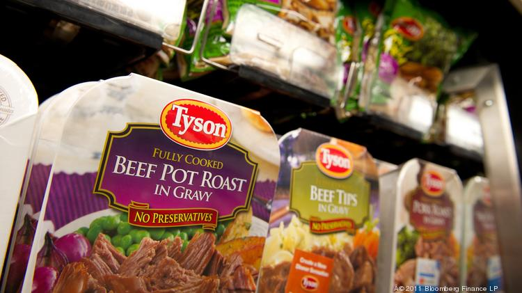 Packages of Tyson Foods Inc. prepared food are displayed for sale.