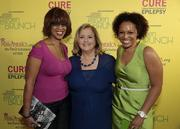 From left, TV personality Gayle King, Democratic strategist Hilary Rosen and Kirby Bumpus.