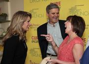 Miss America 2013 Mallory Hagan chats with Steve and Jean Case.