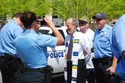 Protesters were arrested during the rally.