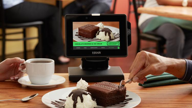 Ziosk is a seven-inch tabletop tablet that allows guests to order drinks and desserts, pay for their tab and play games.