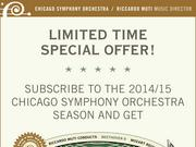 "The Chicago Symphony hopes to attract season subscribers with a ""concert cash"" offer."