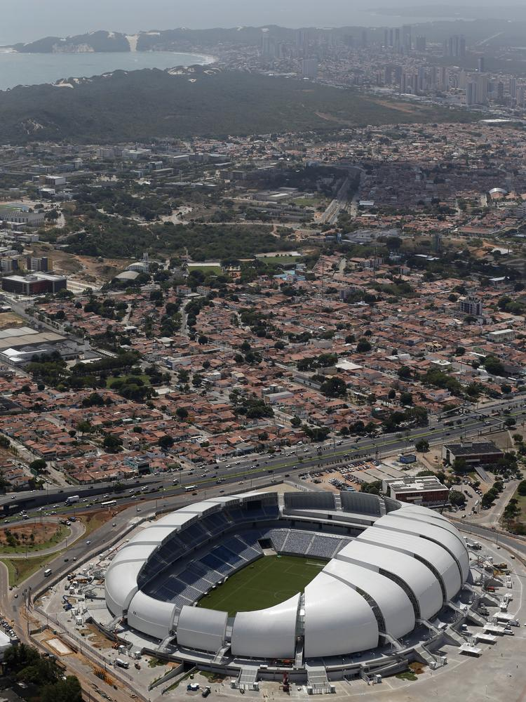 Arena das Dunas stadium in Natal, Brazil, will host matches during the 2014 FIFA World Cup.