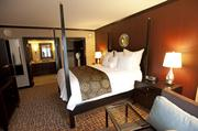 This photo shows the expansive room in the Presidential Suite at the Louisville Marriott Downtown.