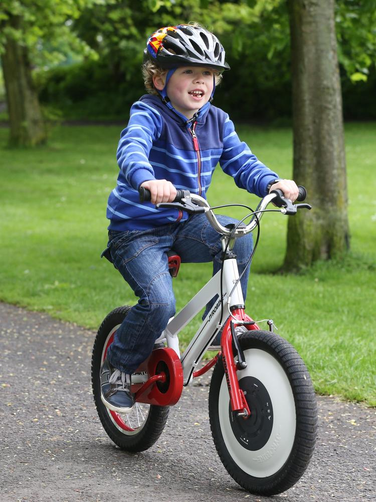 The Jyrobike is an auto-balance bicycle for kids learning to ride.
