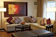 The Presidential Suite also features this sitting area.