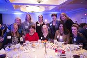 Members of CREW, Commercial Real Estate for Women, showed up in force.