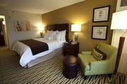 This is one of the renovated bedrooms at the Louisville Marriott Downtown.