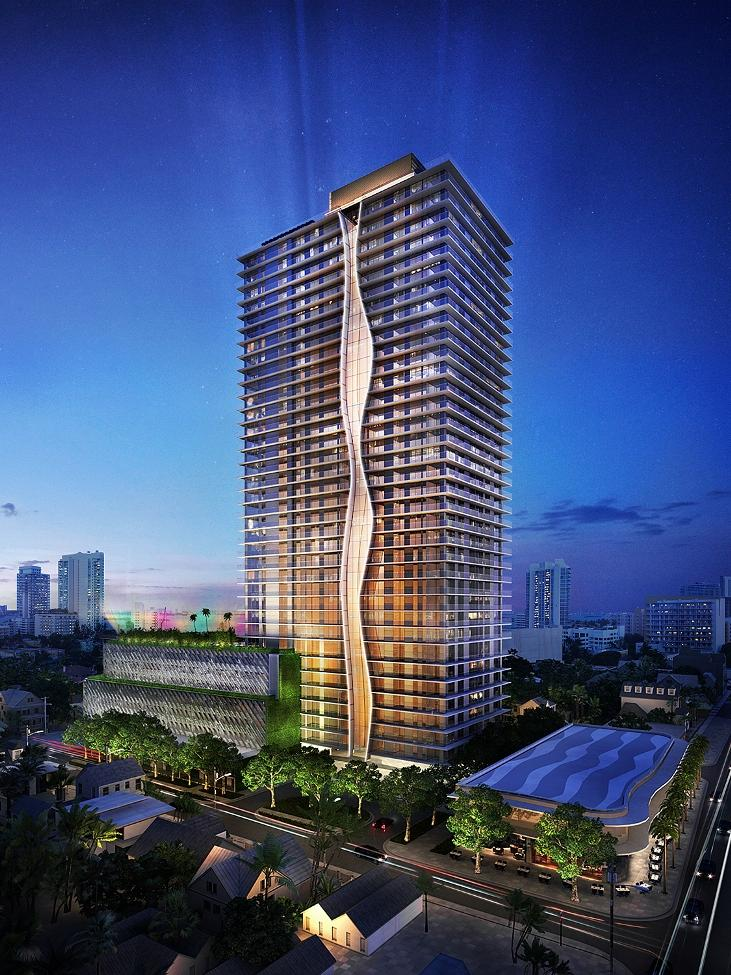 The 330-unit ION East Edgewater condominium in Miami will rise 36 stories.