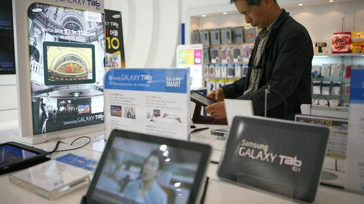 Samsung told investors it sold 2 million units of its Galaxy Tab over six weeks in 2011, when it really sold 1 million tablet the entire year, according to internal documents.