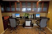 There are computer stations set up for guests to use in the Concierge Lounge.