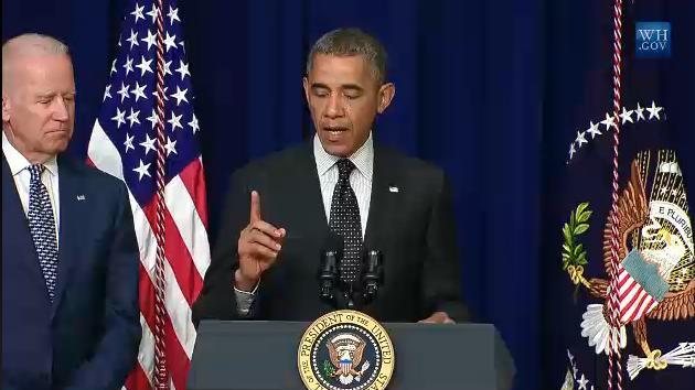 President Barack Obama speaks during the signing ceremony for the Water Resources and Reform Development Act.