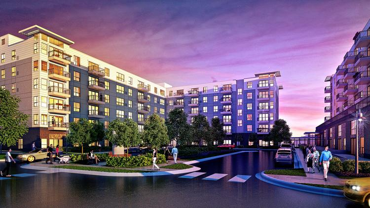 A rendering of 71 France development, which will hold a groundbreaking ceremony Wednesday.